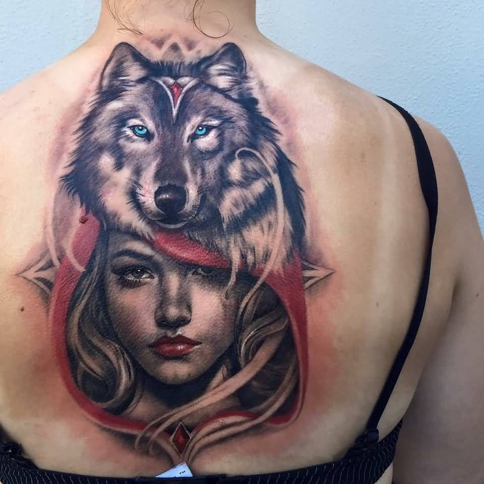 Tattoo Woman Face Mask: 46+ Unique Wolf Head Tattoos Ideas
