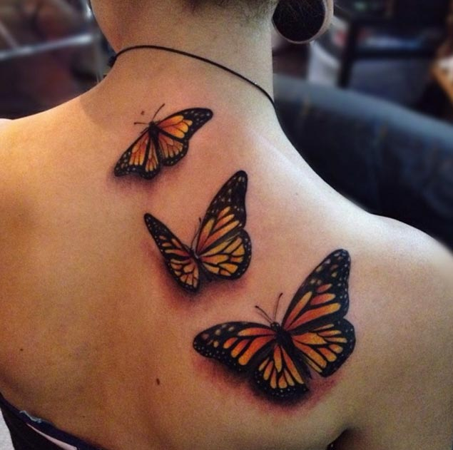 35 awesome butterfly tattoos for girls. Black Bedroom Furniture Sets. Home Design Ideas