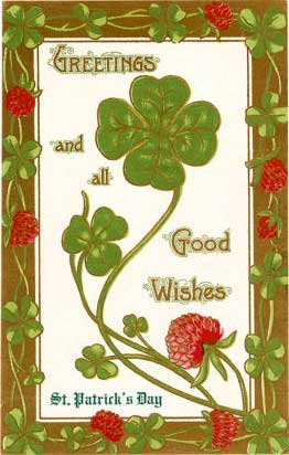 Greetings And All Good Wishes Saint Patrick's Day