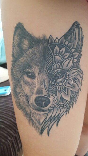 52+ Mandala Wolf Tattoos Ideas