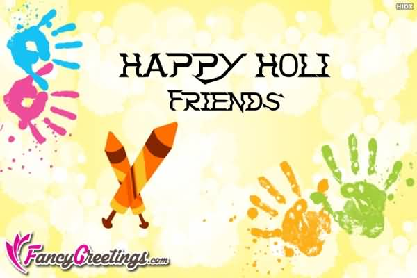 Happy Holi Friends Greeting Card