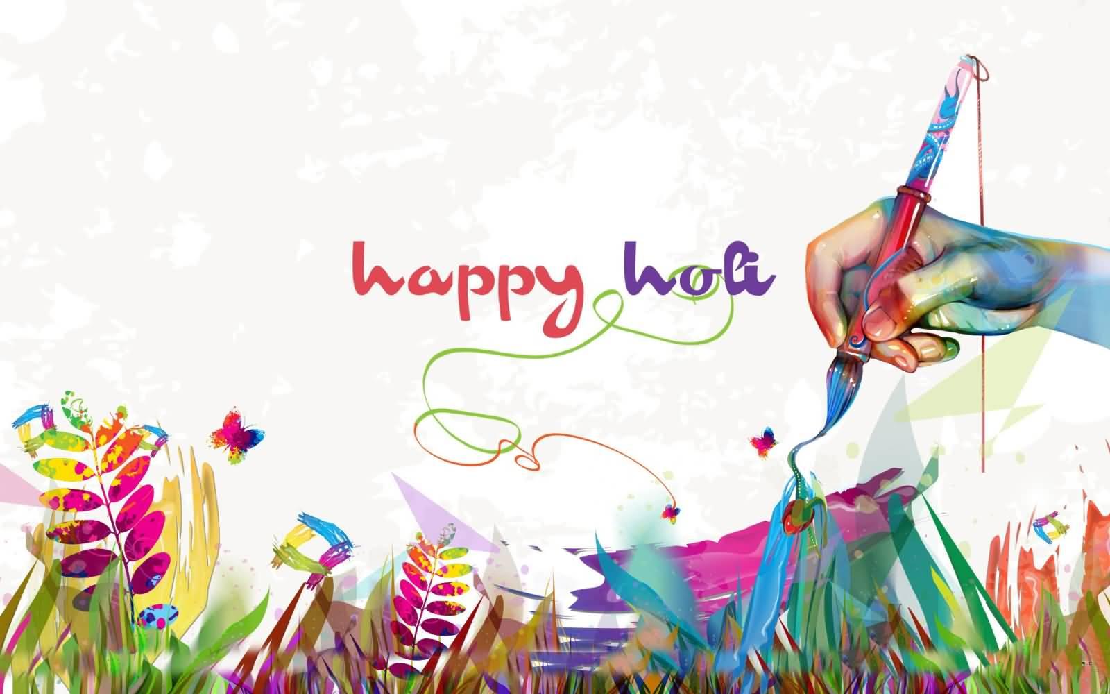 Happy holi greeting card m4hsunfo