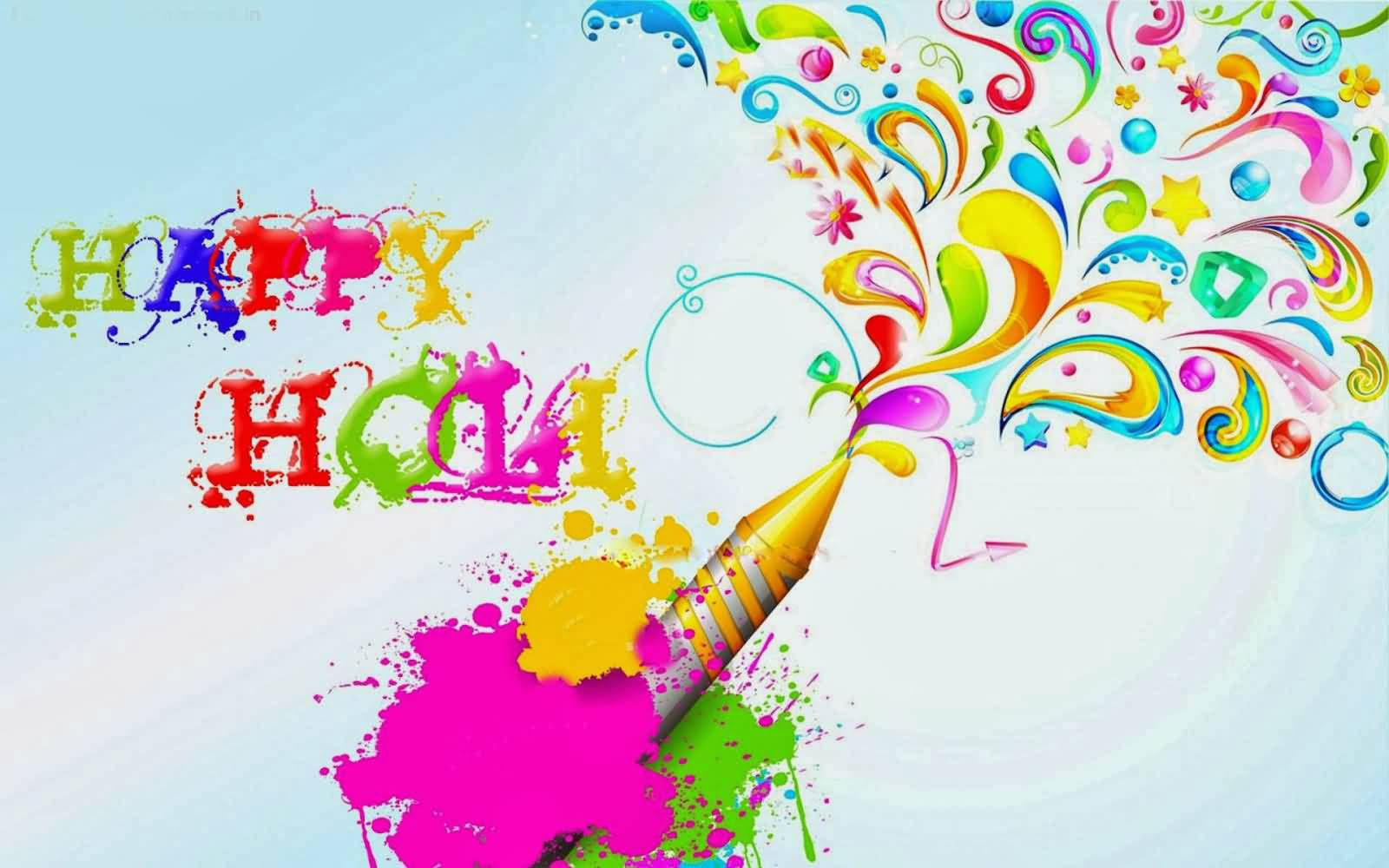 Happy holi greetings 2017 colorful picture m4hsunfo