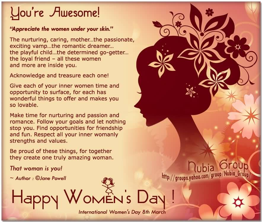 International Women S Day Quotes Messages: Happy International Women's Day 8th March Card