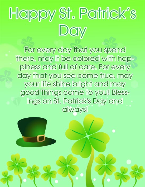 Happy Saint Patrick's Day 2017 Card