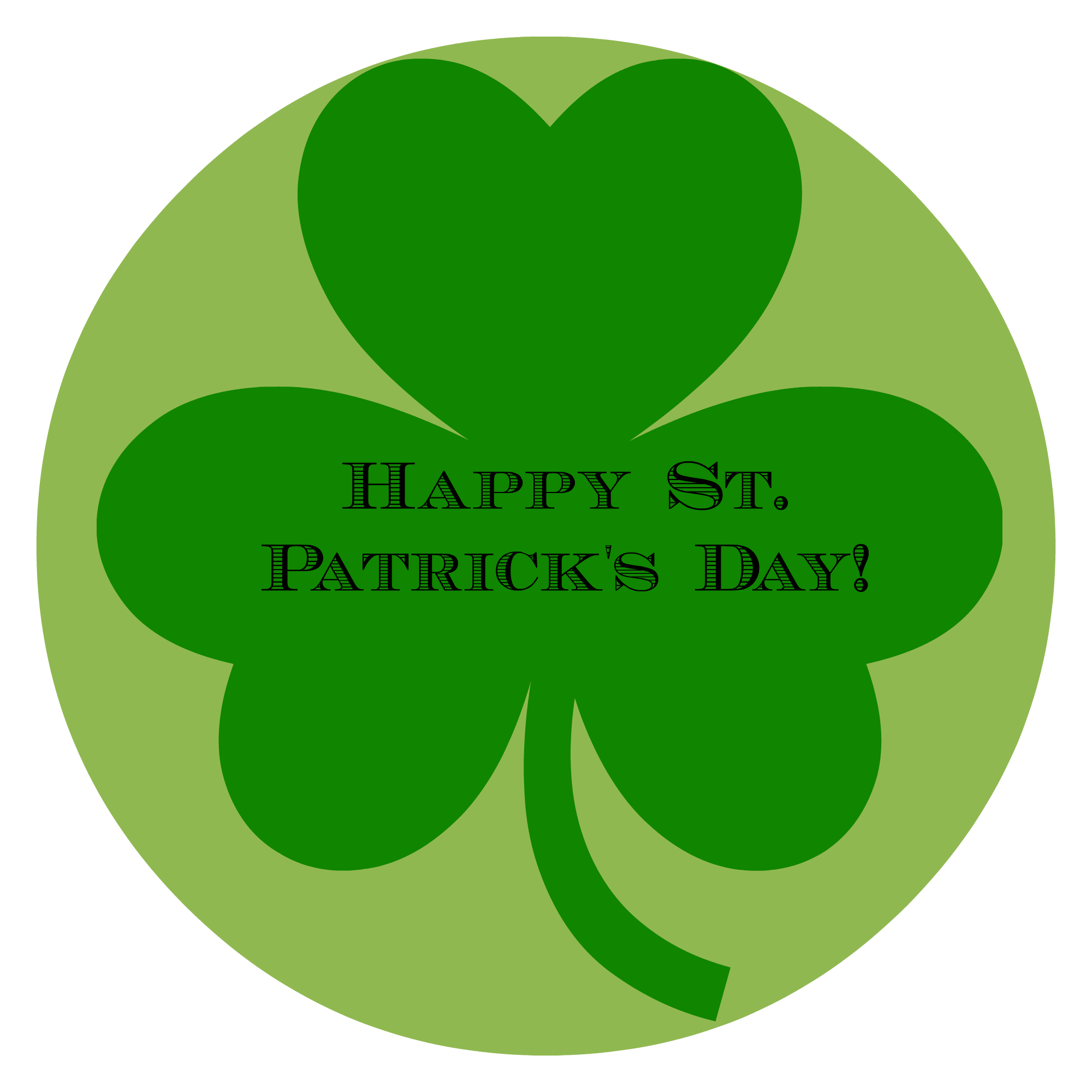 Happy Saint Patricku0027s Day 2017 Clover Leaf Picture