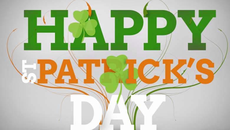 Happy Saint Patrick's Day 2017 Irish Flag Text