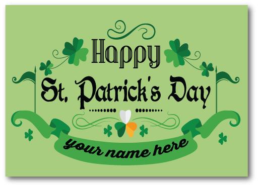 Happy Saint Patrick's Day 2017 Postcard