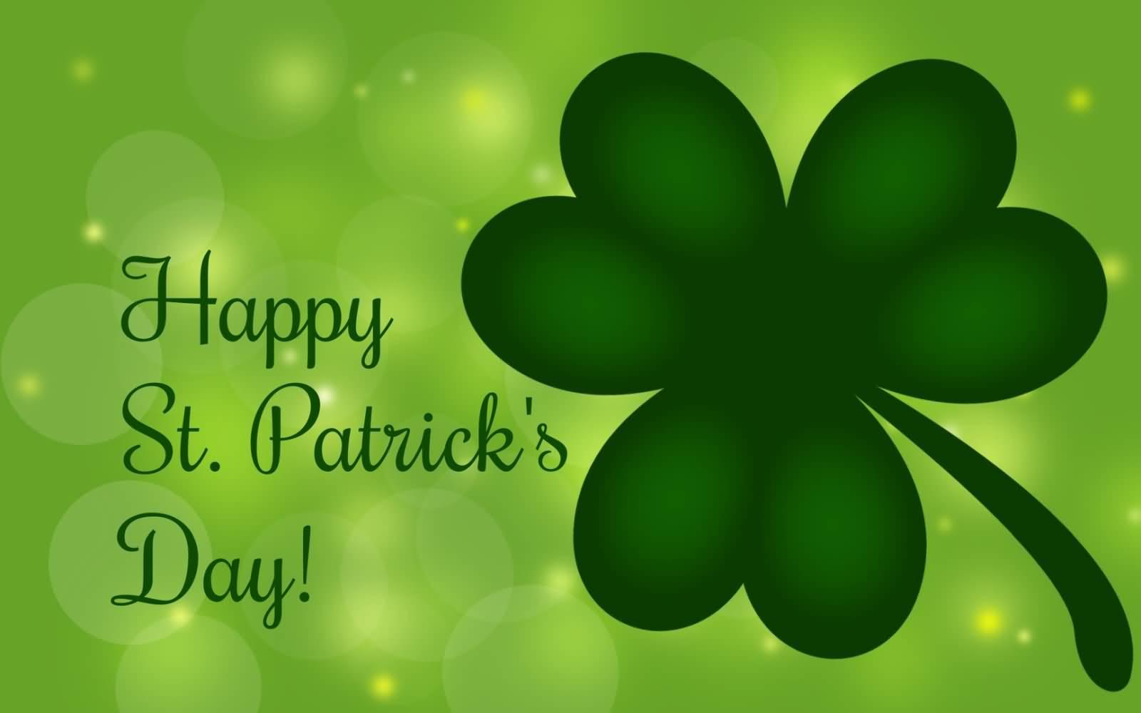 Happy Saint Patrick's Day Clover Leaf