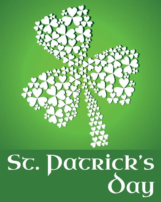 Happy Saint Patrick's Day Hearts Clover Leaf Picture