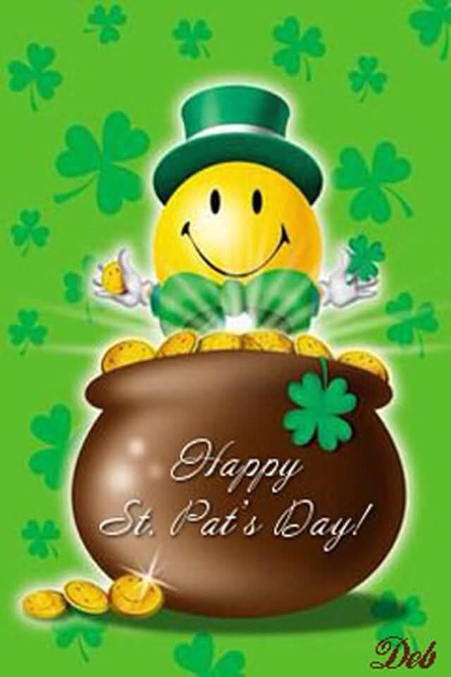 Happy Saint Patrick's Day Pot Full Of Gold