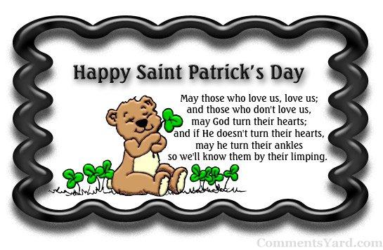 Happy Saint Patrick's Day Teddy Bear