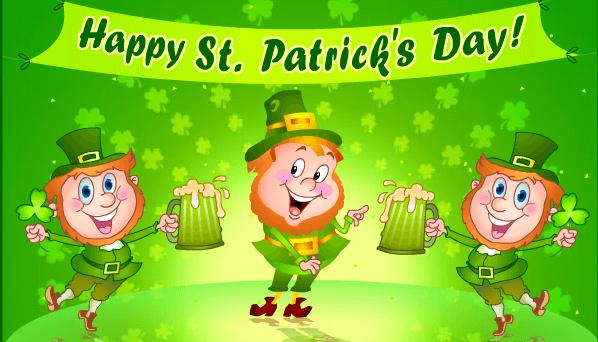 Happy Saint Patrick's Day Three Irish Men Picture