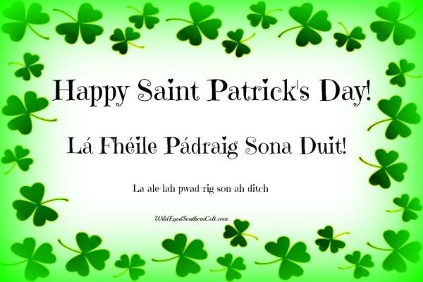 Happy Saint Patrick's Day Wishes In Irish Language