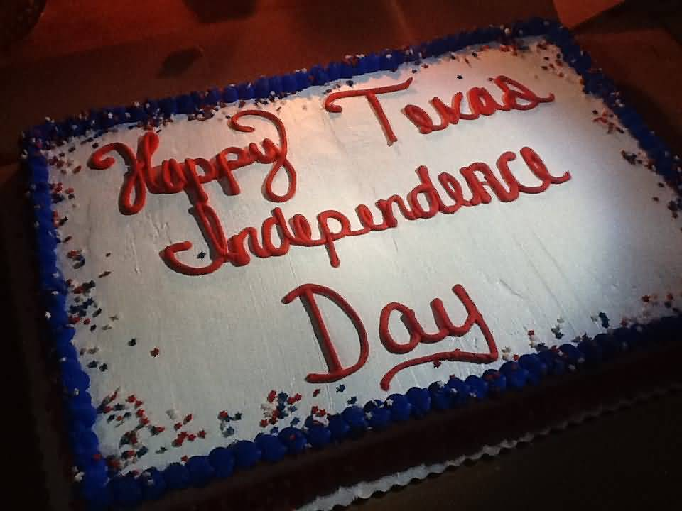 Happy Texas Independence Day Cake Picture