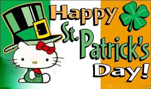 Hello Kitty Wishing You Happy Saint Patrick's Day 2017
