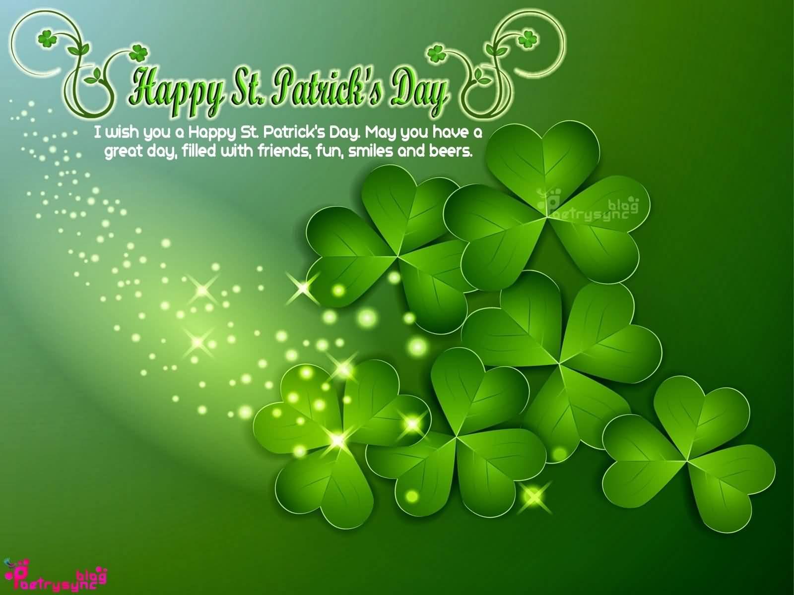 I Wish You A Happy Saint Patrick's Day 2017