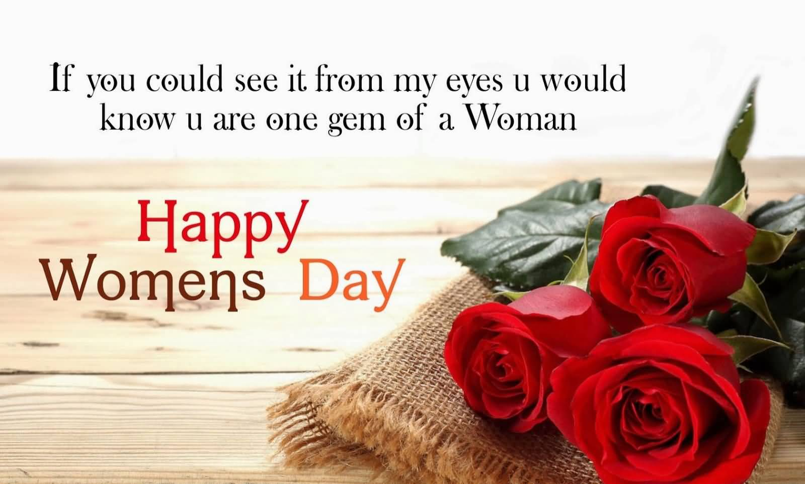 If You Could See You Through My Eyes Quotes: 50 Women's Day 2017 Pictures And Photos
