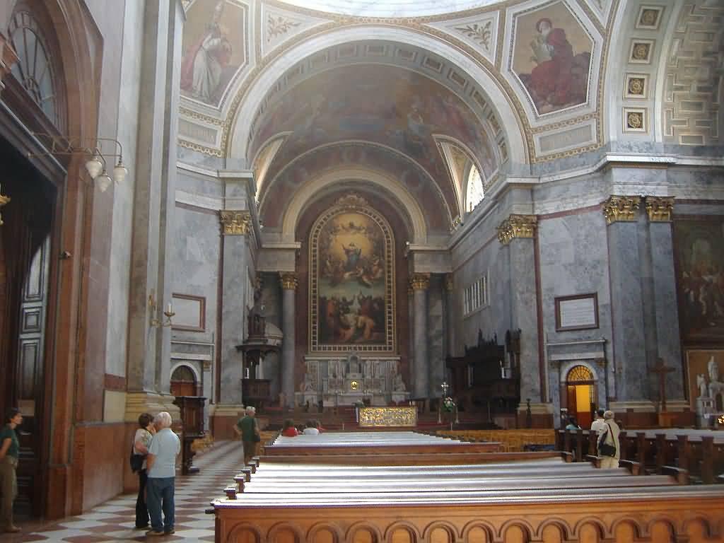 Interior Of The Esztergom Basilica In Esztergom, Hungary