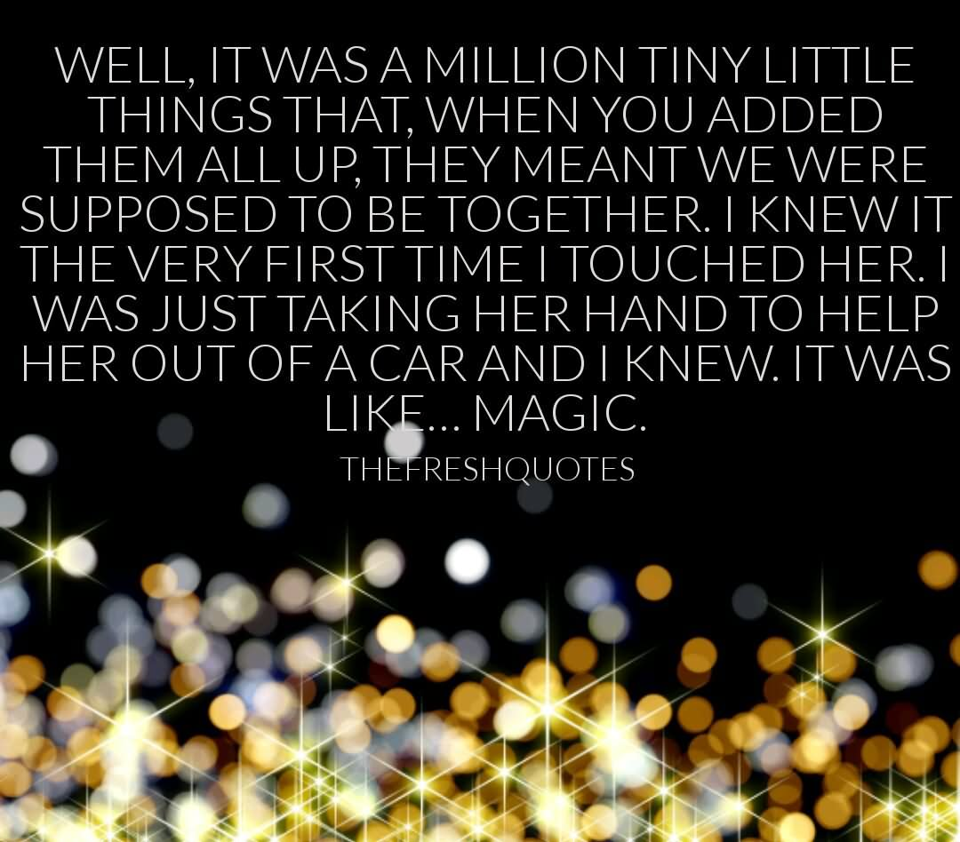 Coming Home Quotes Well It Was A Million Tiny Little Things That When You Added