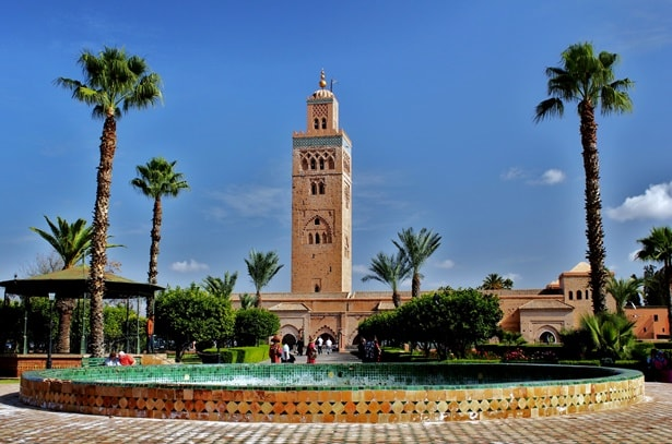 Koutoubia mosque grounds for Jardin koutoubia