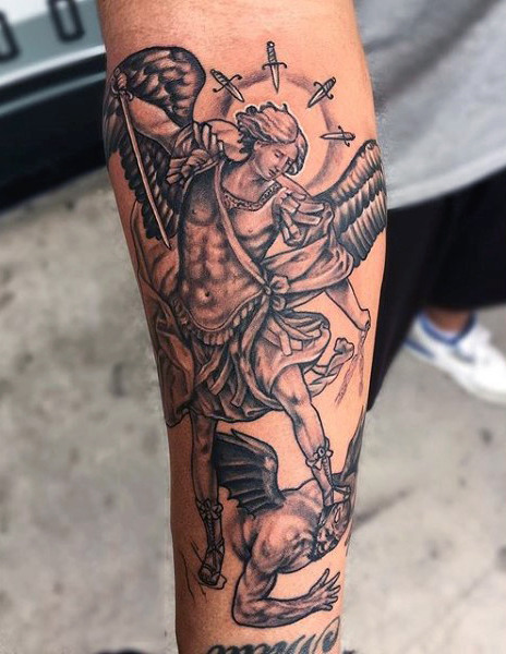 Archangel Arm Tattoo 24+ Archangel Michael ...