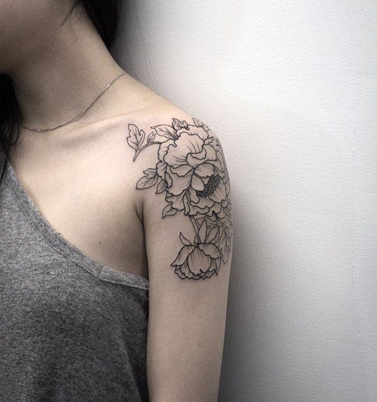 Flower Shoulder Tattoo: 43+ Peony Tattoos Design For Shoulder