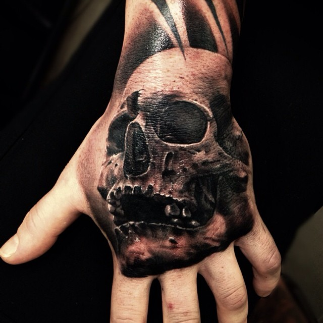 47 best 3d skull tattoos collection for 3d hand tattoo