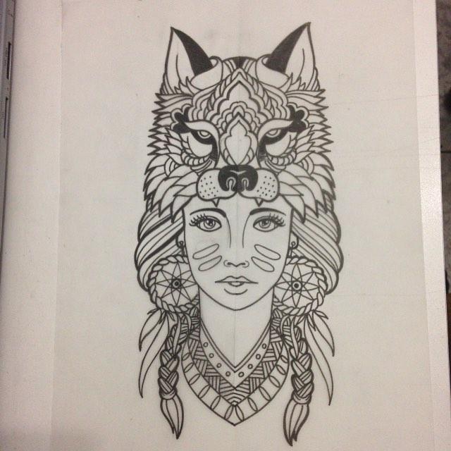Desenho De India Para Tattoo Mmod