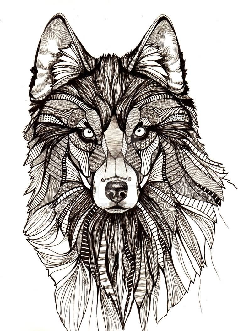 30 mandala wolf tattoos designs collection