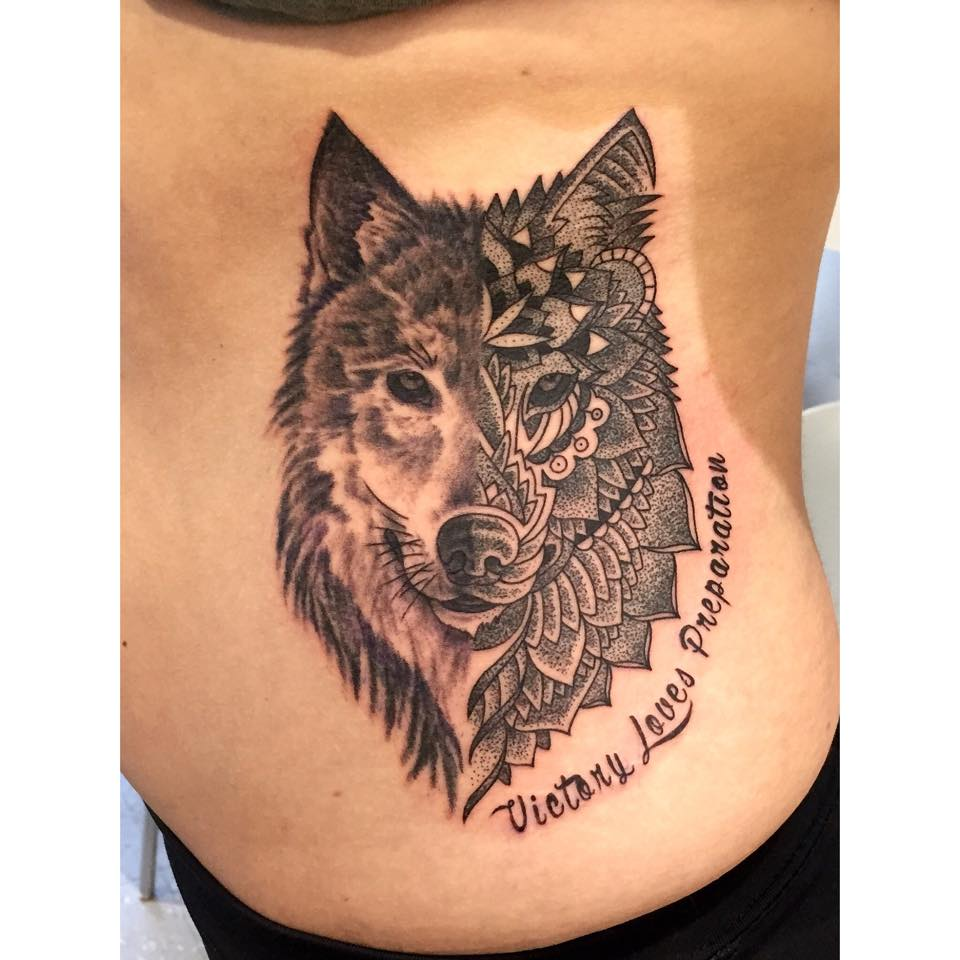 52 Mandala Wolf Tattoos Ideas