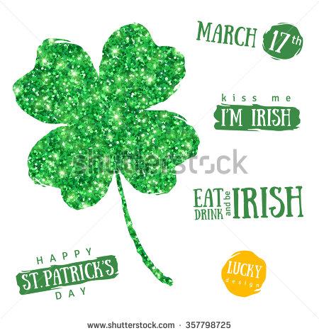 March 17th Kiss Me I'm Irish Happy Saint Patrick's Day 2017