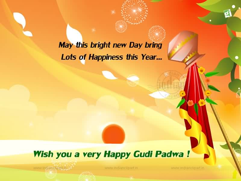 50 delightful gudi padwa wish pictures and photos may this bright new day bring lots of happiness this year wish you a very happy m4hsunfo