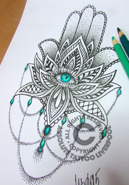 Nice Mandala Flower Tattoo Design