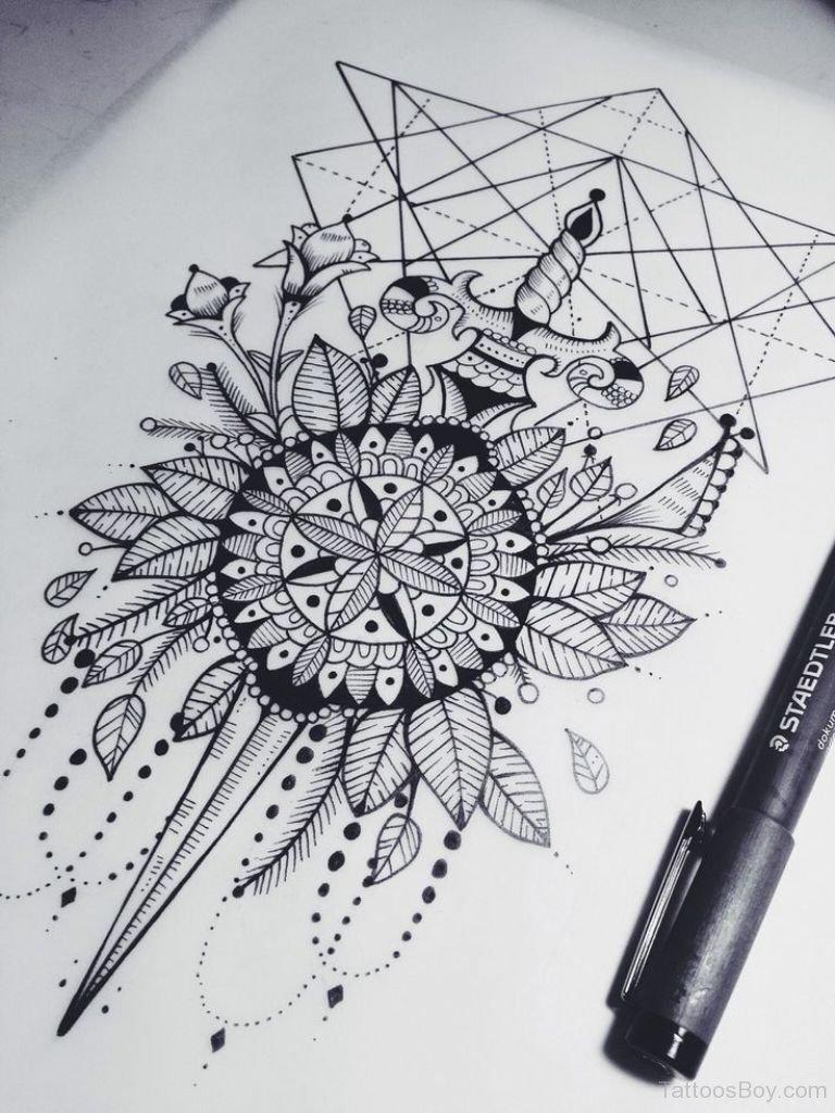 Nice Mandala Tattoo Design Idea