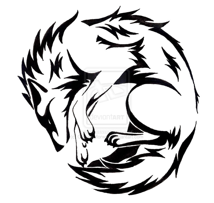 42 latest wolf tattoos designs for Tribal wolf tattoo