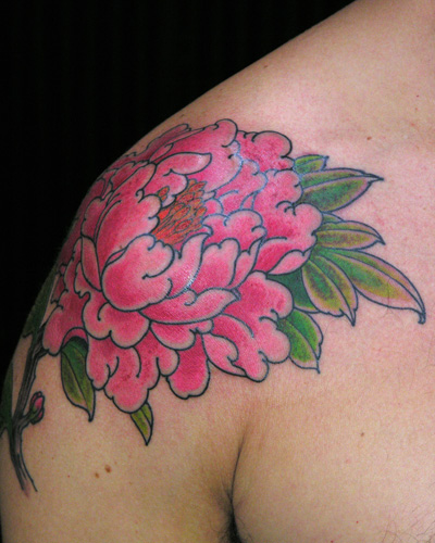 50 traditional peony tattoos designs and ideas for Pink ink tattoo