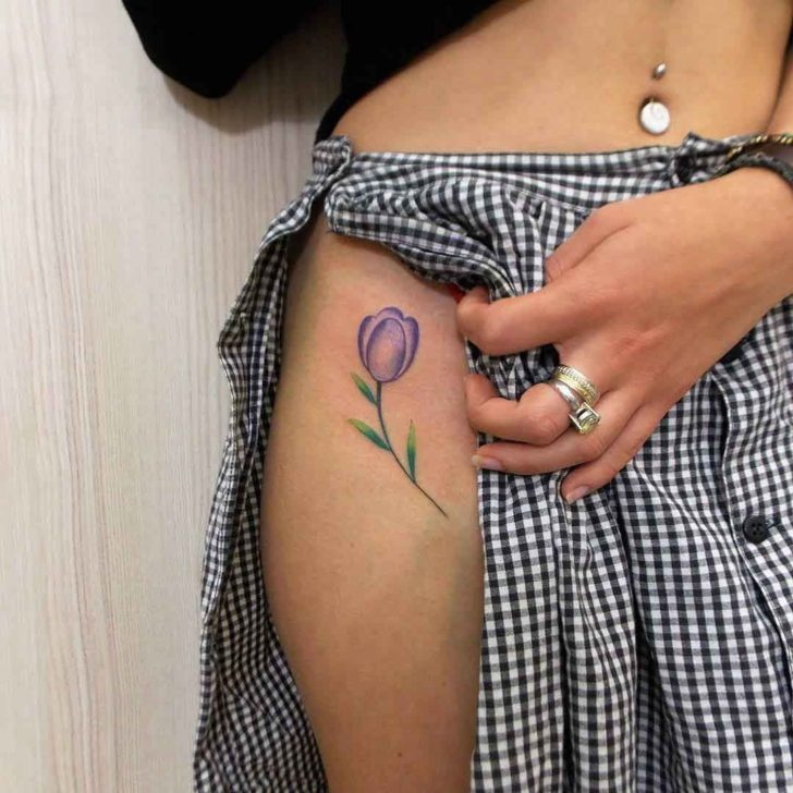 d9bd32291 40+ Latest Tulip Tattoos Ideas Collection
