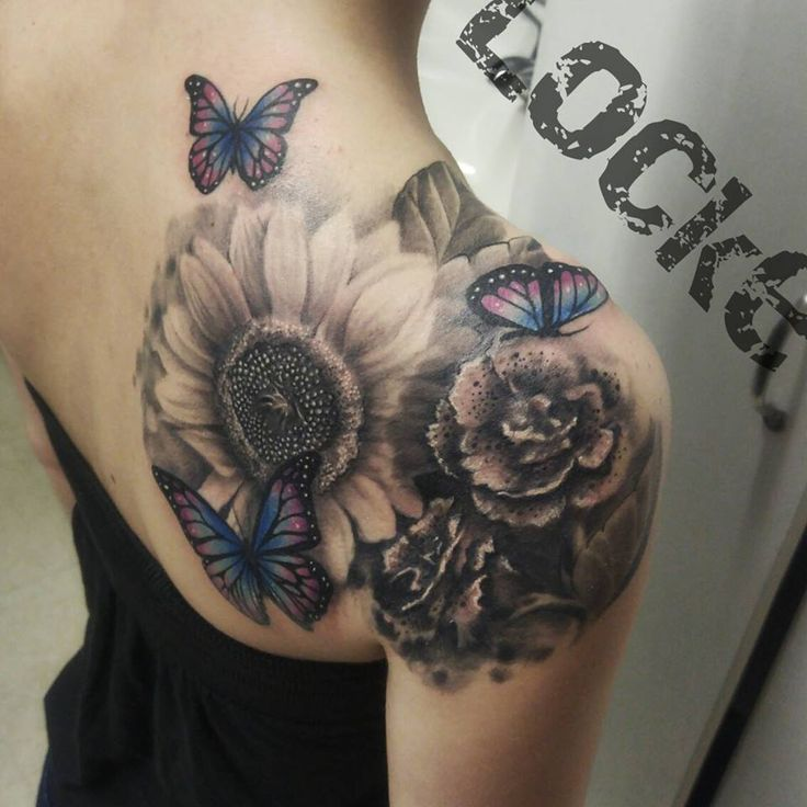 52 latest butterfly tattoos ideas collection for Realistic sun tattoo