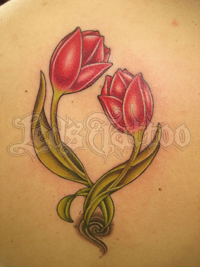 48 beautiful tulip tattoos ideas. Black Bedroom Furniture Sets. Home Design Ideas