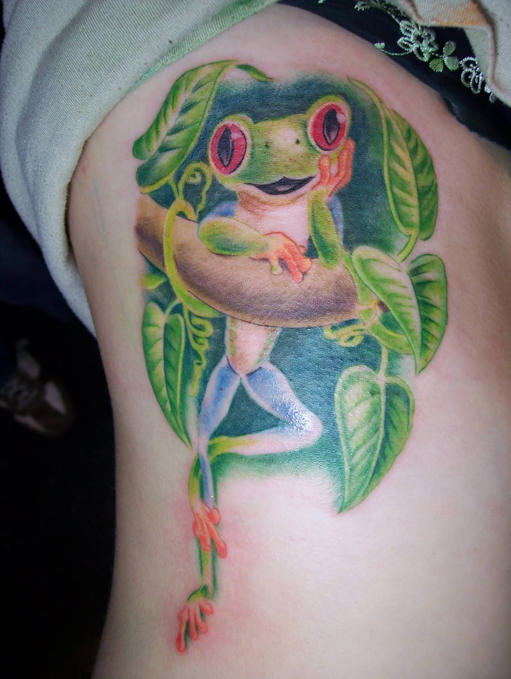 46 unique frog tattoos designs and pictures. Black Bedroom Furniture Sets. Home Design Ideas