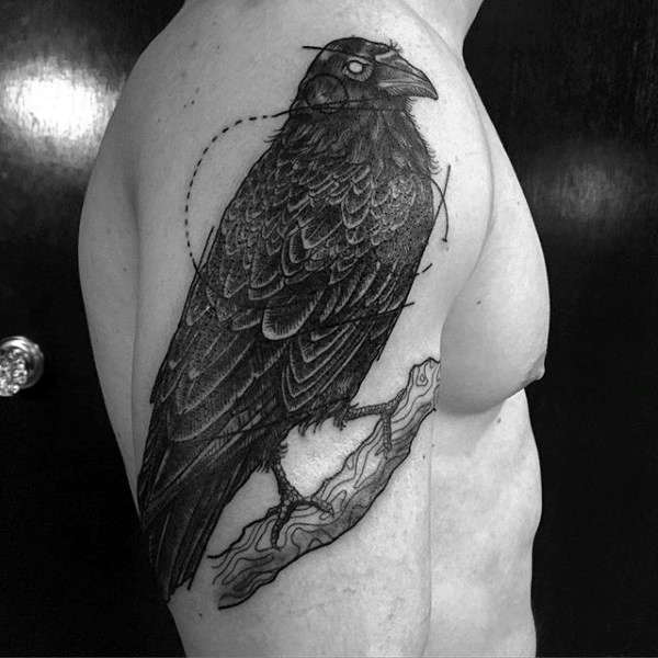 38 latest crow tattoos collection. Black Bedroom Furniture Sets. Home Design Ideas