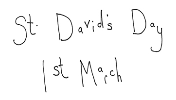 saint davids day 1st march coloring page