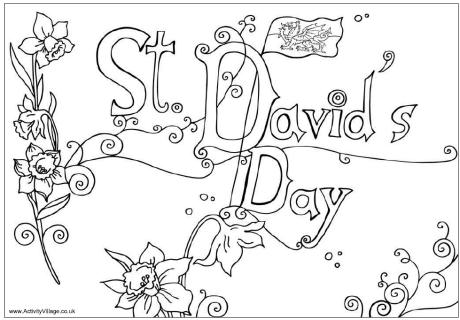 Saint Davids Day Coloring Page