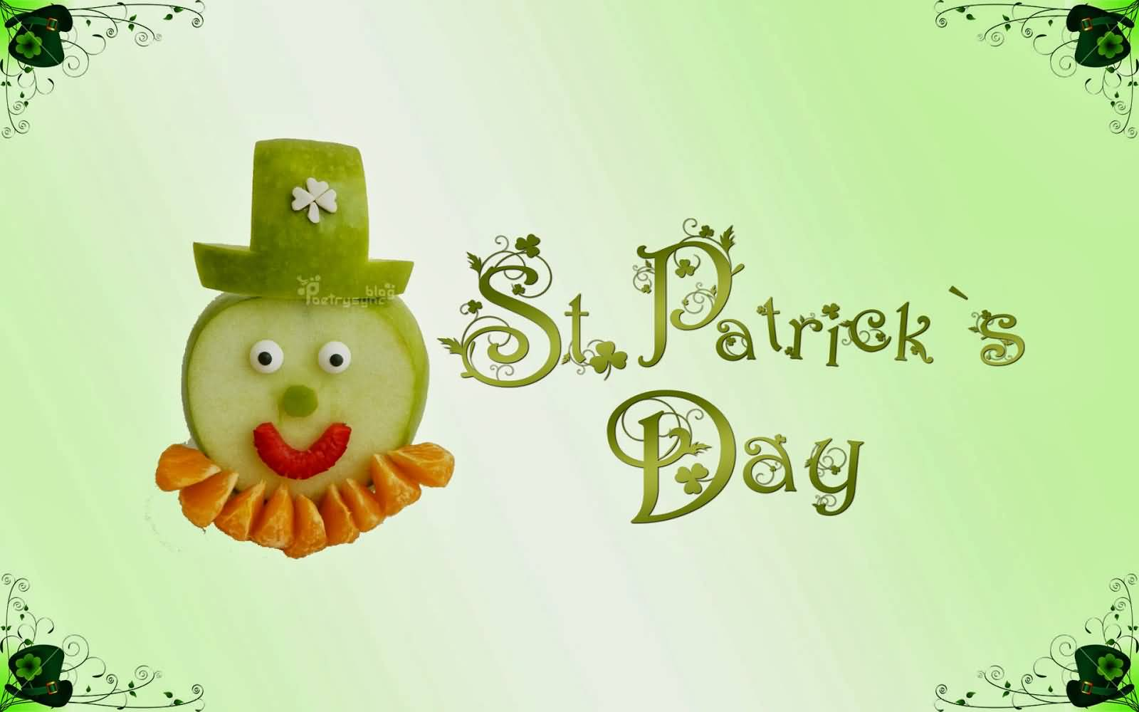 Saint Patricku0027s Day 2017 Greetings. Saint Patricku0027s Day Fruit Face