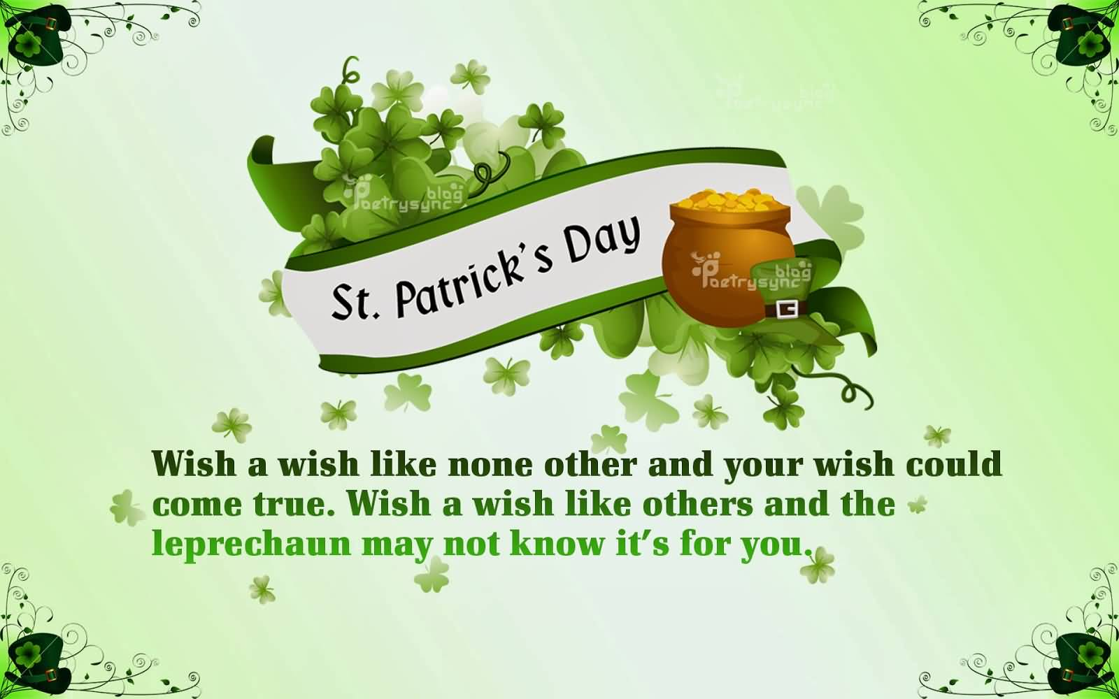 Saint Patricku0027s Day Wishes