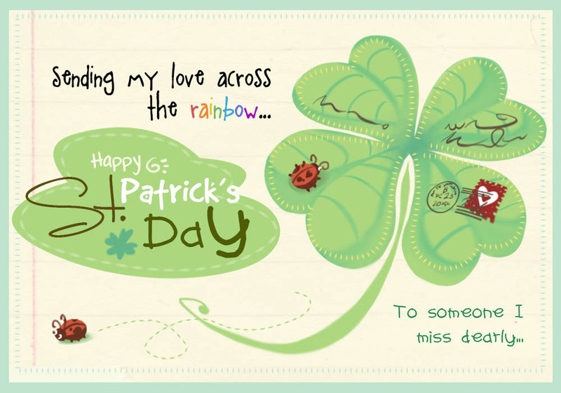 55 most beautiful saint patricks day wish pictures and photos sending my love across the rainbow happy saint patricks day greeting card m4hsunfo