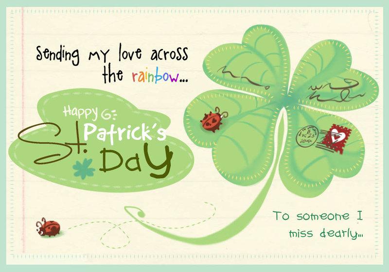 Sending My Love Across The Rainbow Happy Saint Patricku0027s Day Greeting Card