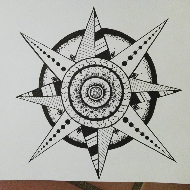 9 Mandala Tattoo Designs And Ideas: Star Mandala Tattoo Design