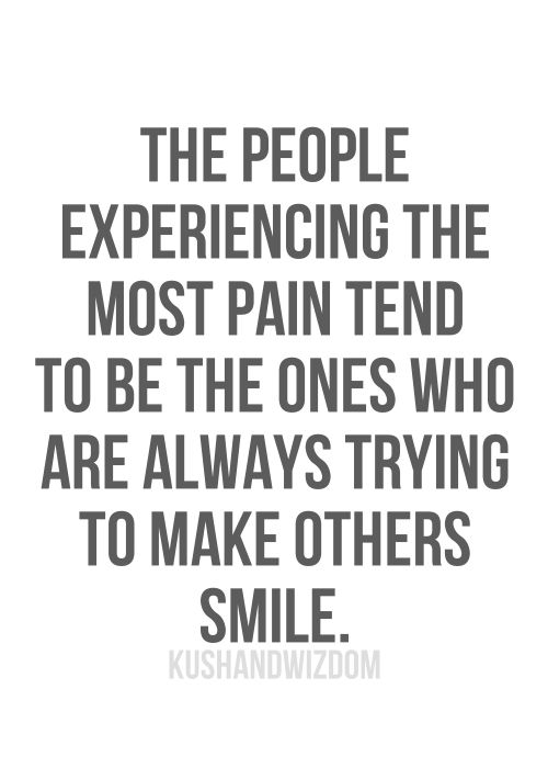 the people experiencing the most pain tend to be the ones who are